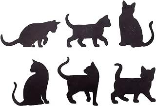 Cat Silhouette Fridge Magnets, Set of 6