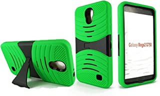 Samsung Galaxy Mega 2 Case, NEM Hybrid Armor Case Protective Dual Layer and Advanced Shock Absorption Protection with Kick Stand for Samsung Galaxy Mega 2-Green