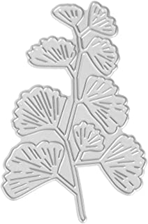 Easydeal Cutting Dies Ginkgo Leaves Metal Embossing Stencil Frames for Card Making Scrapbooking DIY Paper Cards Crafts Wedding Birthday Party Decoration