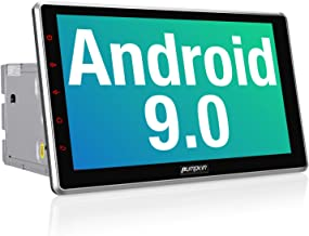 PUMPKIN 10.1 Inch Android 9.0 Car Stereo Double Din with WiFi, GPS Navigation, Android Auto, Support Fastboot, Backup Camera, USB SD, Detachable Touch Screen