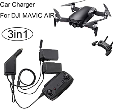 3in1 Adapter Auto Ladegerät für DJI Mavic Air Fernbedienung Batterie Charger Hub