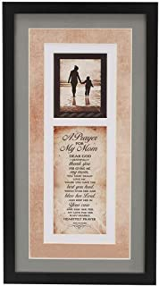 Alaska mountain Mother Prayer Plaque Mom Gift for Christmas Birthday Mothers Day, Mother-in-Law, Women, can Put Your own Photo, Wood Wall Art Frame, Hanger for Hanging | 9.6 inches x 17.5 inches