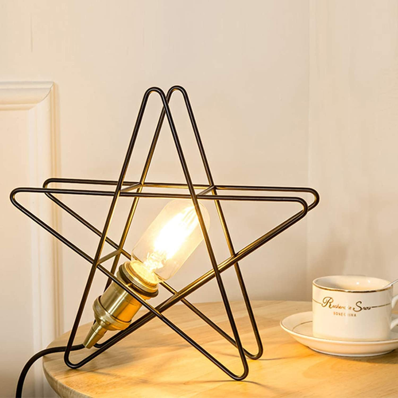 XQY Home Wohnzimmer Schlafzimmer Nachttischdekoration Tischlampe-Led Nachtlicht Nachttischlampe Kreative Sterne Dekorative Metall Lichter für Baby Zimmer Schlafzimmer Wohnzimmer