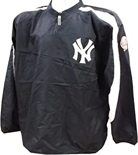 VF York Yankees MLB Mens Majestic 1/4 Zip Windbreaker Jacket Navy Blue Big Sizes