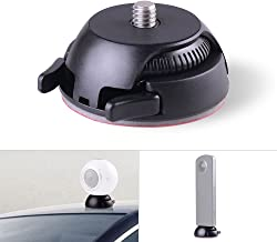 Andoer Quick Release Mount Holder Including Buckle + Flat and Curved Base Adhesive Tape for Samsung Gear 360 Camera for Ricoh Theta S/SC/M15 & Sports Action Panoramic Camera w/ 1/4
