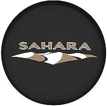 Minisoo Spare Tire Wheel Cover Car Truck SUV Camper Fits for Jeep Wrangler Sahara (Sahara Logo, Diameter 27.95