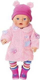 Zapf Creation BABY Born Poppenkleding - Designerkleding met Modeaccessoires - Luxe Jas