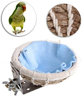 Ogquaton Bird Nest Breeding Hemp Rope House Home Weave Canary Finch Budgie Handmade Decor Durable and Practical