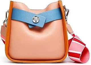 Fashion Simple and Versatile Compact Bills Shoulder Slung Leather Handbags (Color : Beige)