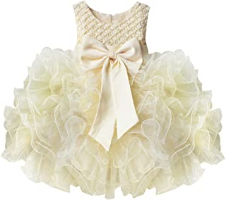 TiaoBug Baby Girls Flower Wedding Pageant Princess Bowknot Christening Baptism Communion Party Dress