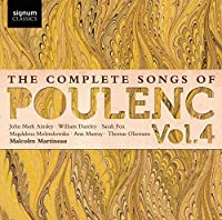 Complete Songs of Poulenc, Vol. 4 by Fox (2013-10-29)