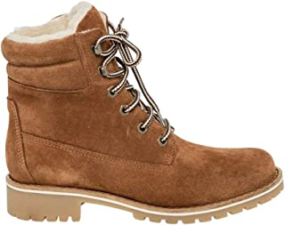 Suede Lace-Up Boot,38,Tan
