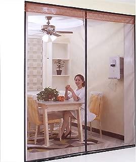 WYMBK Magnetic Door Screen, Dog Cat Proof Pet-Resistant,Durable Front Screen Mesh Curtain Door Net,Keeps Small Flying Animals Out-c 63x91inch(160x230cm)