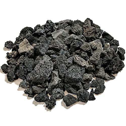 Midwest Hearth Lava Rock for Fire Pits and Gas Log Sets, Black 1/2' to 1' (10-lb Bag)