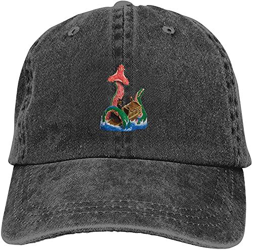 Sea of Thieves The Kraken Retro Denim Cap Adjustable Unisex Plain Baseball Cap Fashion Cowboy Hat New Gifts Cool 2021