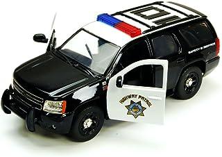 Chevy Tahoe Highway Patrol SUV, Black & White - Jada Toys Hero Patrol 96295HP - 1/24 scale Diecast Model Toy Car