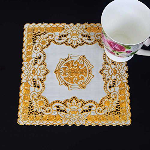 ZHFC pvc 219 square coasters mat double isolation pad mat sets de table nappe 20 * cm 1 bloc,20 cm de square 2