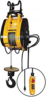 Electric Wire Rope Hoist, 1000 lb, 115V