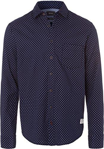 BRAX Herren Style Keith Freizeithemd, Navy, 42 (Herstellergröße: L)