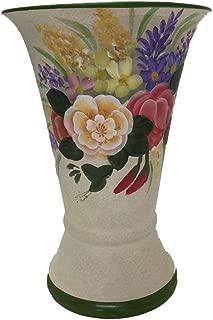 PMJC Hand Painted Ceramic Vase, 6.5