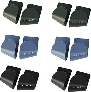 6 paires Support D'organisateur de Support de Couvercle de Casserole Multifonctions,Porte Couvercles de Casseroles,à Fixer...