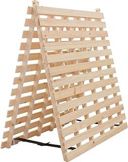 アイリスプラザ すのこマット 檜 二つ折り シングル 天然木 折りたたみ ベッド通気性