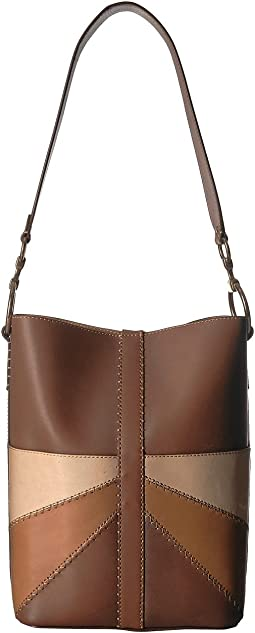 Ilana Color Block Bucket Hobo