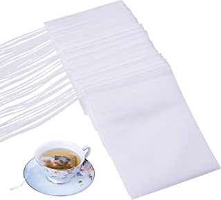 Disposable Empty Tea Bags, Filter Bags for Loose Tea 300 PCS (3.54