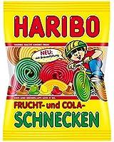 HARIBO - ハリボー - FRUCHT- und COLA-SCHNECKEN -175 g - 6,17 oz - 果物とコーラワーム - 175グラム - 6.17オンス