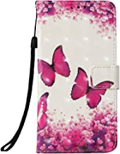 LG Aristo 2 Case, LG Tribute Dynasty/LG Zone 4 / LG Fortune 2 / LG K8 2018 /LG Risio 3 /LG Rebel 3 LTE,Voanice PU Leather Wallet Card Slots Stand Flip Cover LG K8 2018 &Stylus-Pink Butterfly