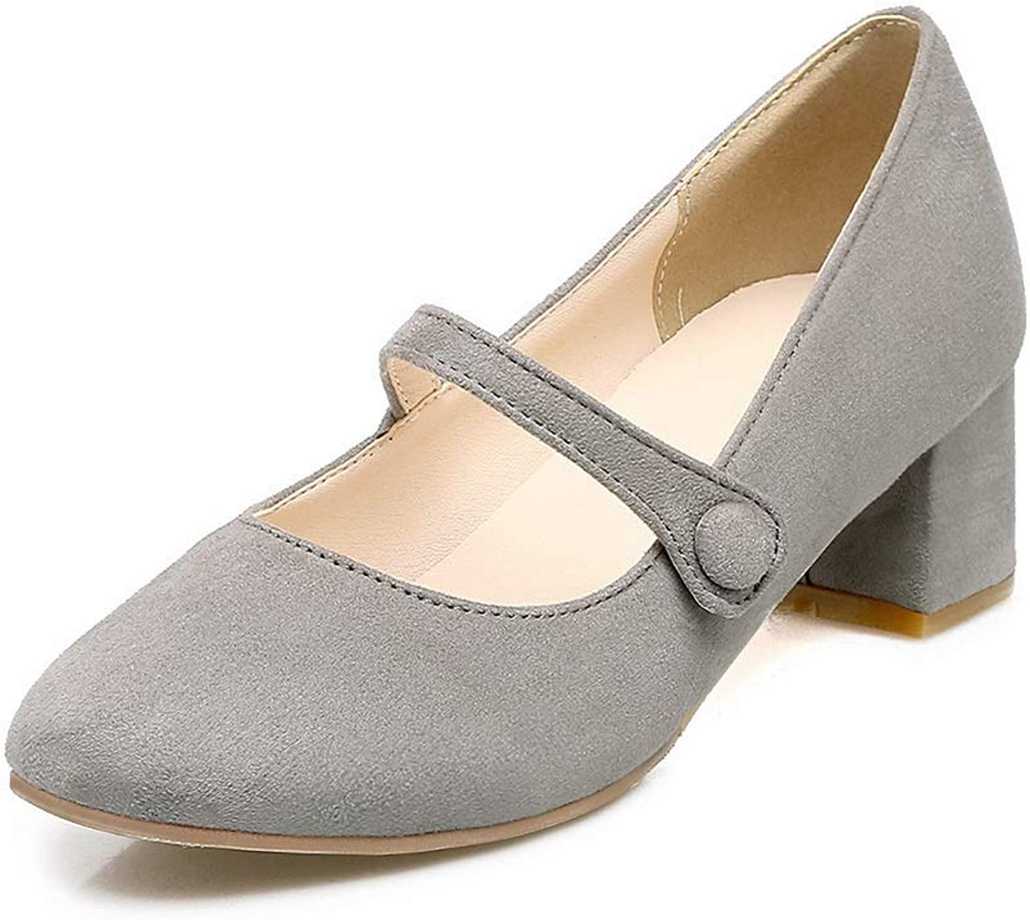 BalaMasa Womens Casual Business Solid Urethane Pumps shoes APL10556