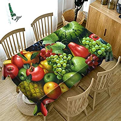 YHXY Fresh Cucumber 3D Printing Tablecloth Foreign Trade Personalized Products Manufacturers First-Hand Supply Tablecloth Personality Hanging Cloth C 140X200Cm