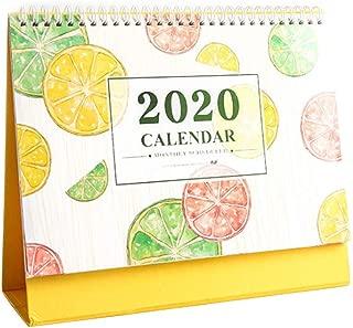 Frjjthchy Desk Standing Calendar 2019-2020 Monthly Planner for Office Home (Lemon)