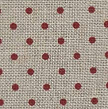 Zweigart 32ct Petit Point Raw/Red Belfast Linen Fabric -18x27
