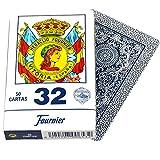 Deck of 50 Fournier Spanish Playing Cards Catalan Face #32 - Baraja Española Catalana Blue