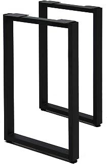 サンニード テーブル 脚 パーツ レッグスクエア SLG-2 2個1組 奥行43 高さ67cm アイアン ブラック 黒