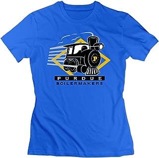 SAXON13 Women's Purdue University Boilermakers Funny Tshirts Royalblue