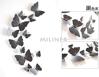 Wall Stickers 12pcs PVC 3D Butterfly Wall Decor Cute Butterflies Wall Stickers Art Decals Home Decoration Room Wall Art,Pu...