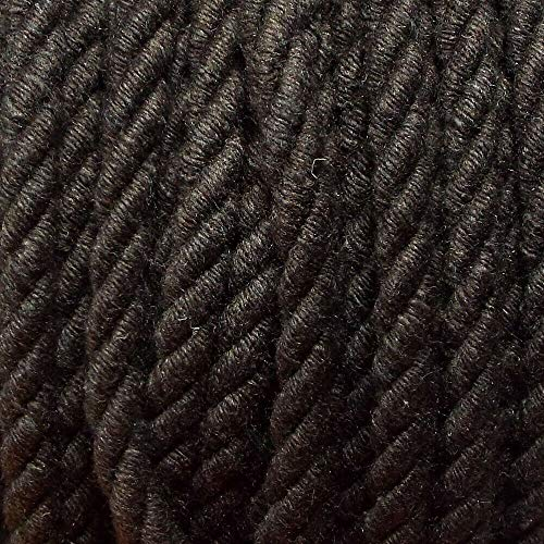 Be-Creative - Bolsa para tapicería (4 m, algodón puro, 5 mm), color marrón casi negro