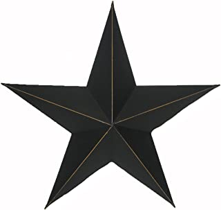 Craft Outlet Antique Star Wall Decor, 11-Inch, Black, Set of 2