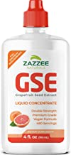 Zazzee Grapefruit Seed Extract (GSE) 4 Ounces, 480 Servings, Double Strength, 100 mg per Serving, Vegan, Liquid Concentrat...