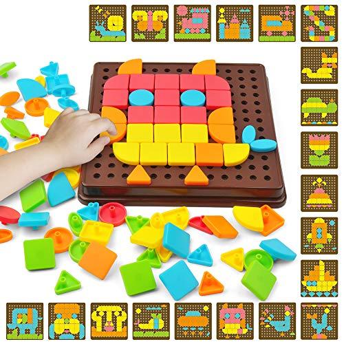 GizmoVine Puzzles Rompecabezas Juguete Educativo Placa de Madera Pizarra para Niños de 3 Años