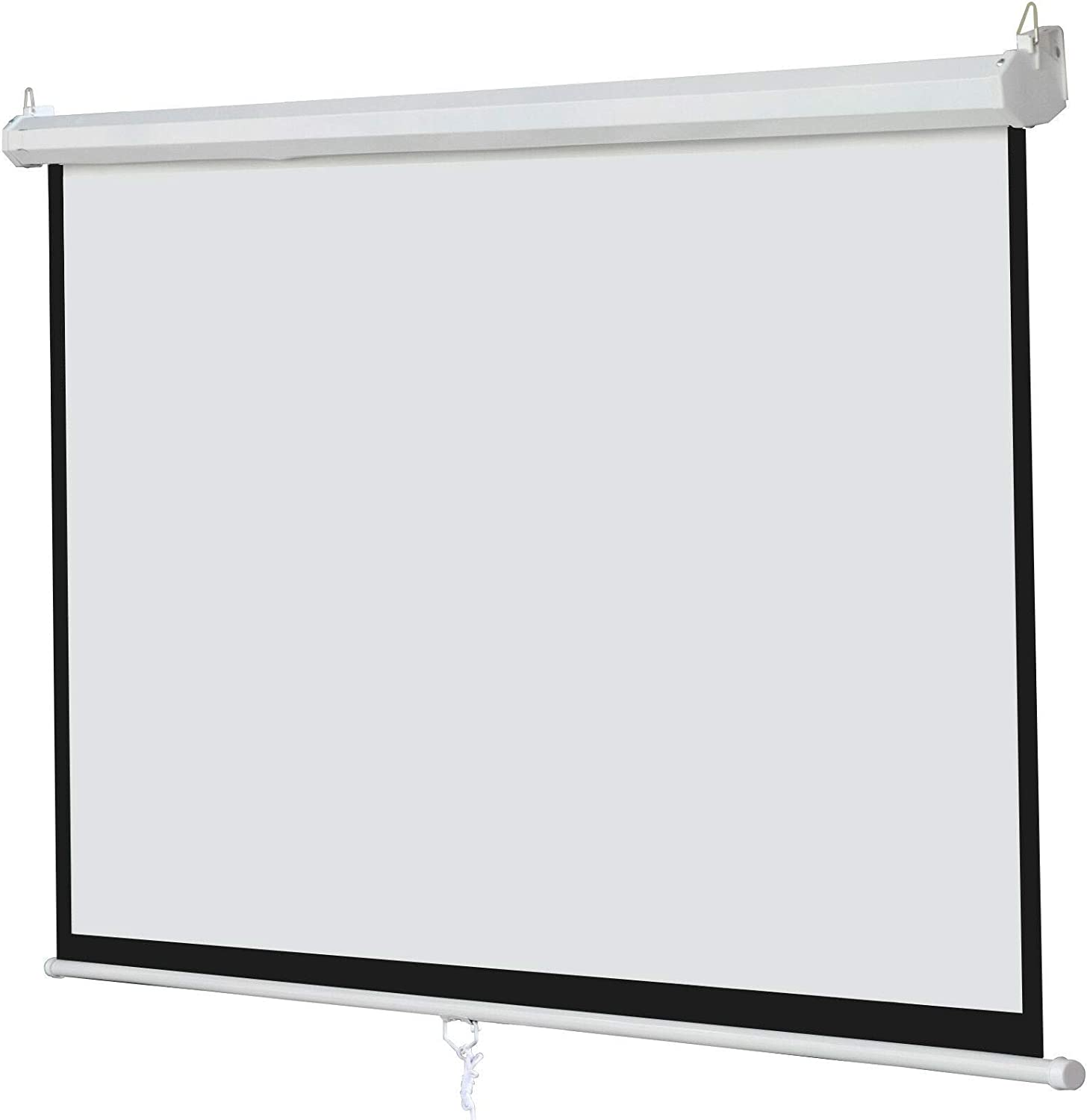 Kosoree 100 Inch 16:9 Manual Pull Down Projector Projection Screen Home Theater Movie