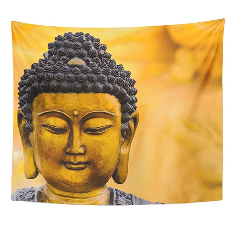 Emvency Tapestry Polyester Fabric Print Home Decor Asia Buddha Statue As Amulets of Buddhism Religion Asian Wall Hanging Tapestry for Living Room Bedroom Dorm 50x60 Inches