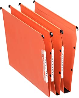 Esselte Dossier Suspendu Horizontal, Multi-Dossiers, Fond 30 mm, A4, Lot de 25, Onglets inclus, Orange, Orgarex, 21629