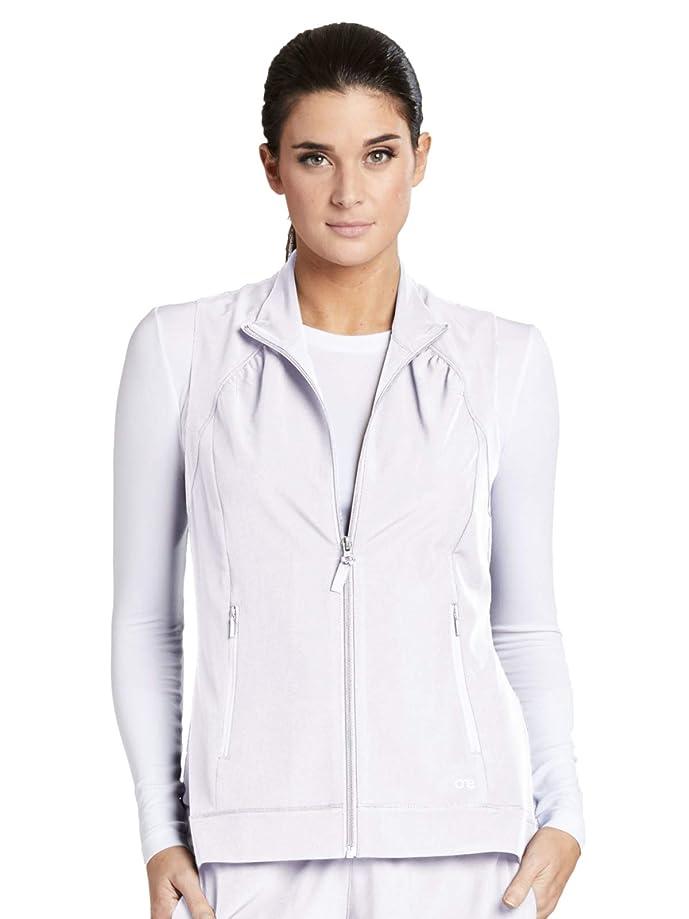Barco ONE 2-Pocket Mock Neck Zipper Vest for Women - Stretch Medical Scrub Vest