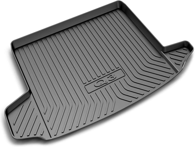 Coche Alfombrillas Maletero para Audi Q3 Sportback Goma Antideslizante Impermeable Forro Maletero Trasero Bandeja Personalizada Alfombrillas Goma Maletero Anti Sucio Interior
