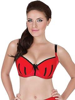 b41ed4c8937 Parfait by Affinitas Charlotte Red and Black Padded Bra 6901