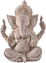Figurine Animal Statue Ornaments Statue Ornaments Sculptures Nature Sandstone Indian Ganesha Figurine Religious Hindu Elep...