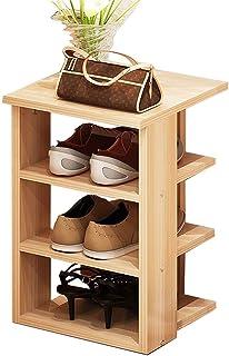 Étagères à chaussures Étagère à chaussures multifonctionnelle à 4 niveaux avec étagères de rangement étanches à la poussiè...
